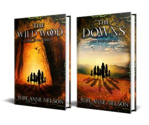 The Wild Wood & The Downs by Julie Anne Nelson book jackets